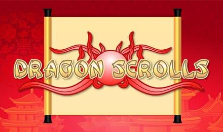 Dragon Scrolls online slots game logo
