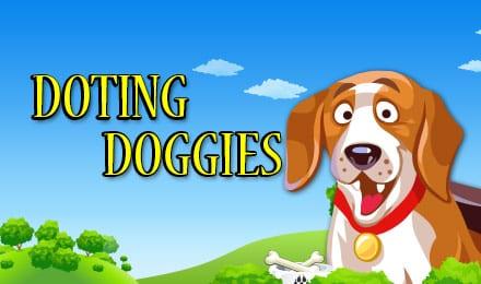Doting Doggies online slots game logo