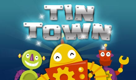 Tin Town online slots game logo