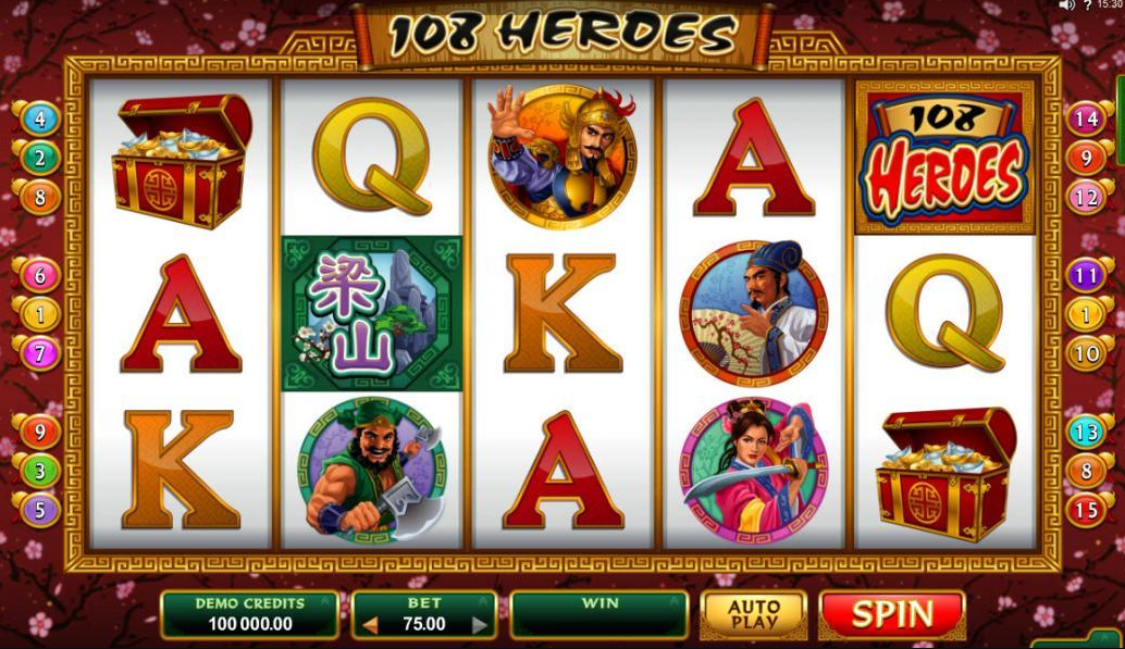 108 Heroes Online slot game