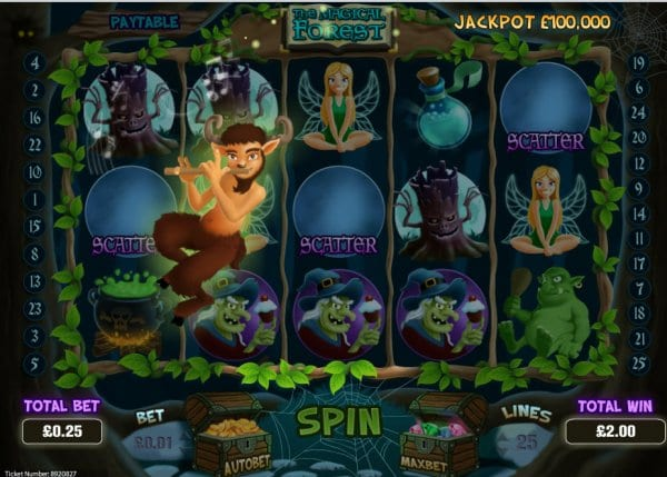 The Magical Forrest slots gameplay