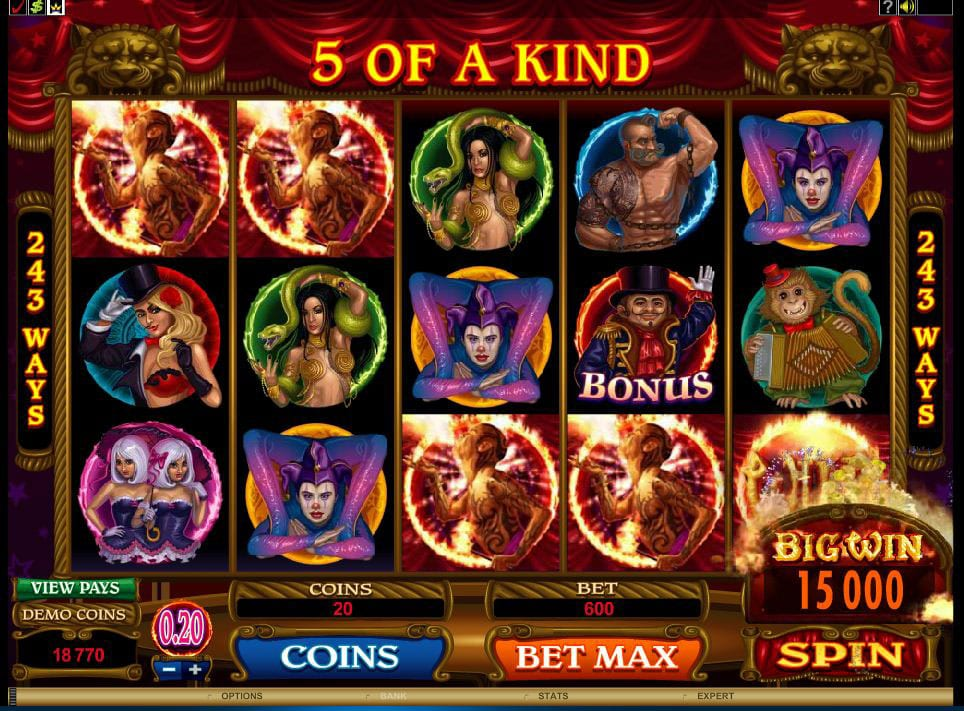 The Twisted Circus online slots game gameplay