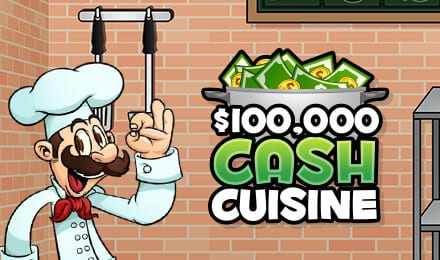 Cash Cuisine online slots game logo