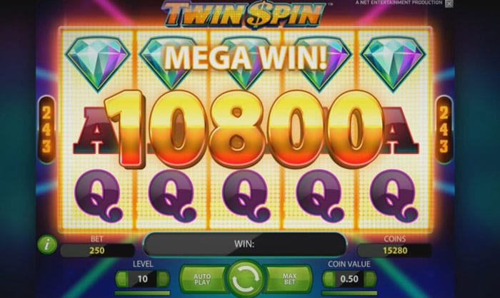 Twin Spin online slots games win