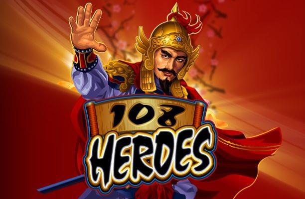 108 Heroes slots game logo