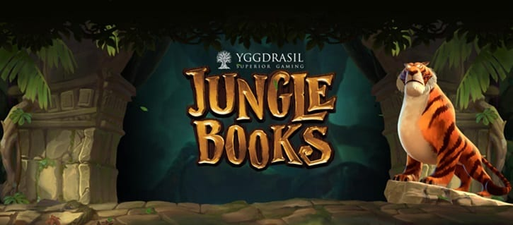 Jungle Books online slots game logo