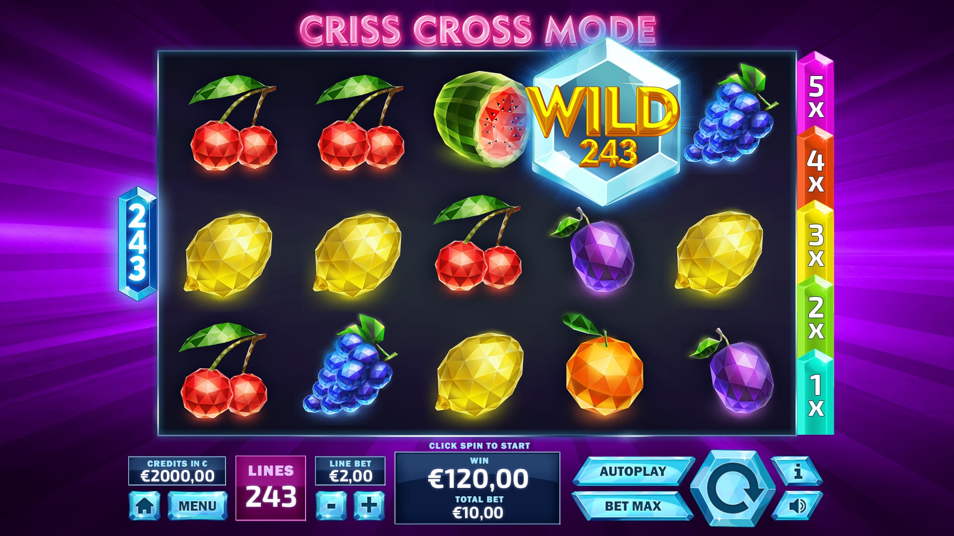 243 crystal fruits: criss cross mode