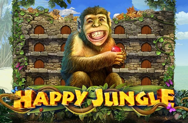 Happy Jungle online slots game logo