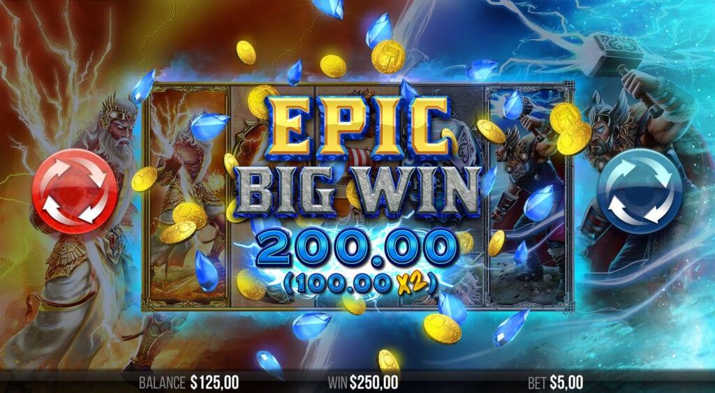2 Gods Zeus vs Thor Slots Big Win