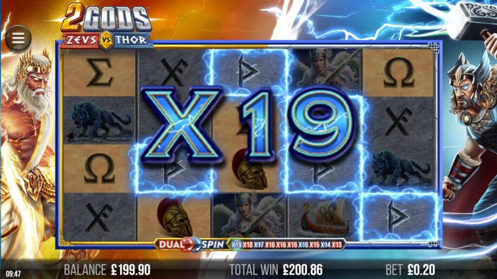 2 Gods Zeus vs Thor Slot Online