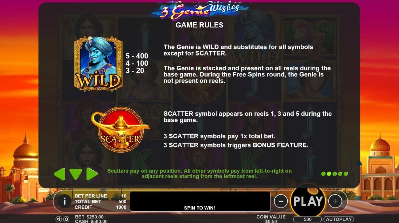 3 genie wishes game rules