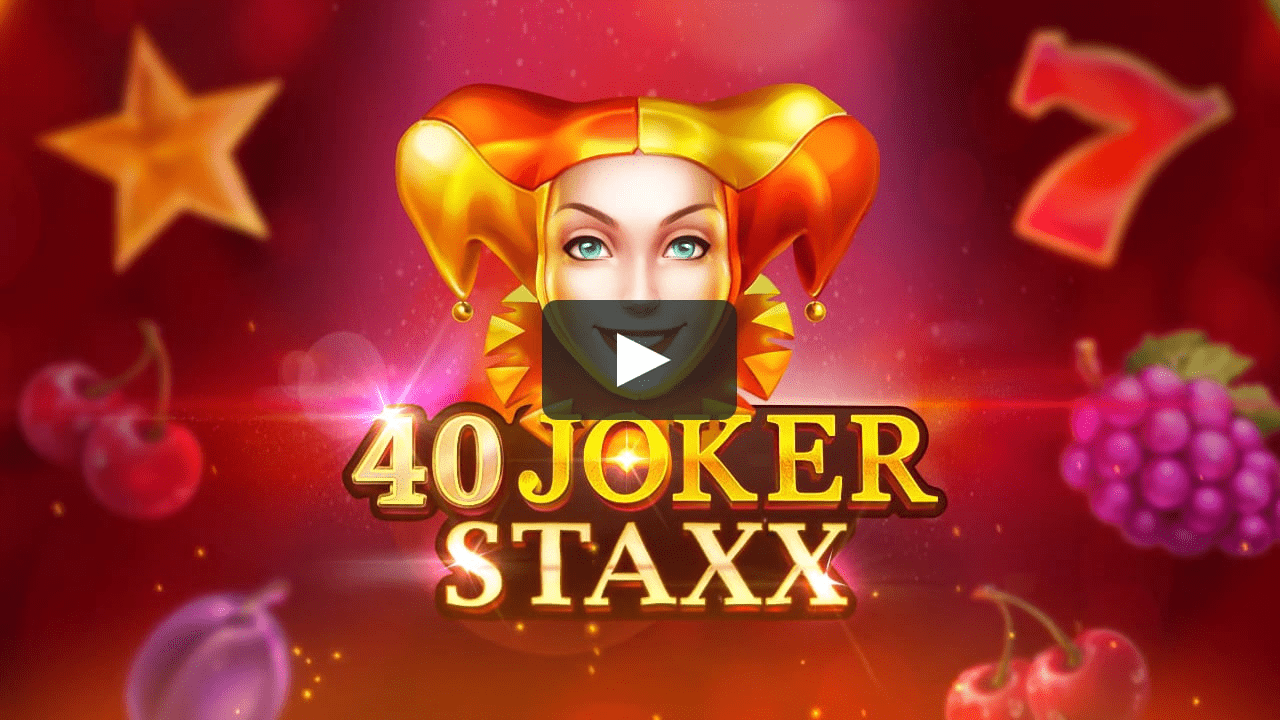 40 joker staxx slots game logo