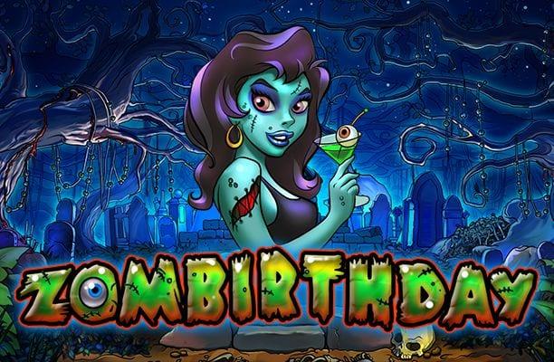 Zombirthday online slots game logo