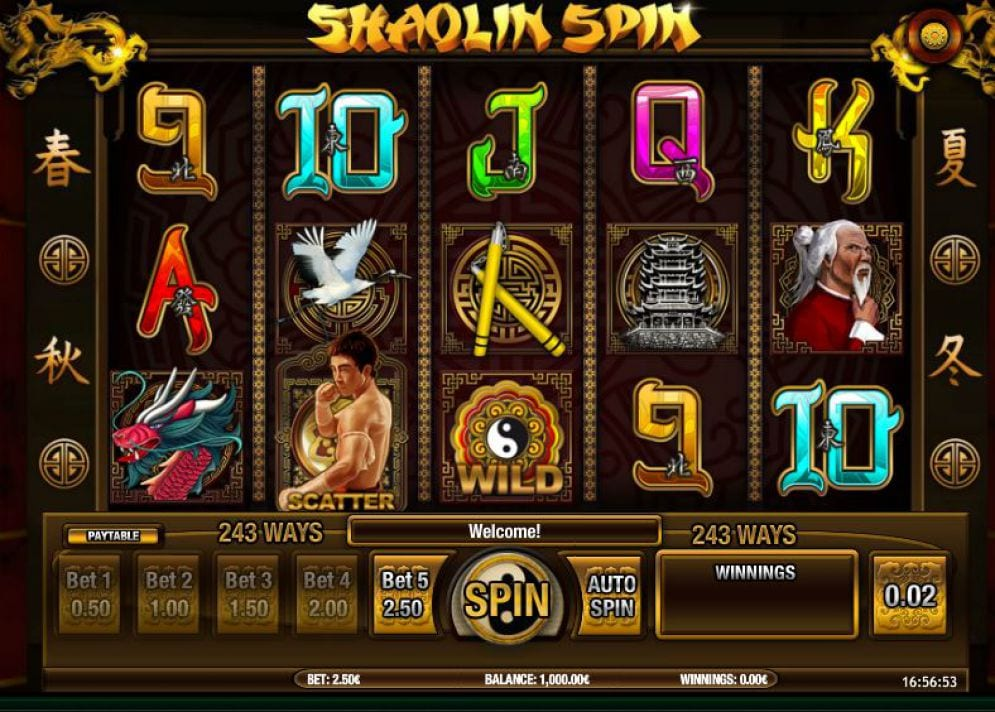 Shaolin Spin slots gameplay