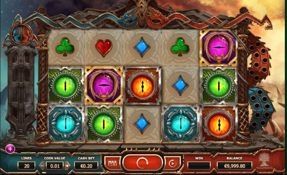 Double Dragons online slots game gameplay