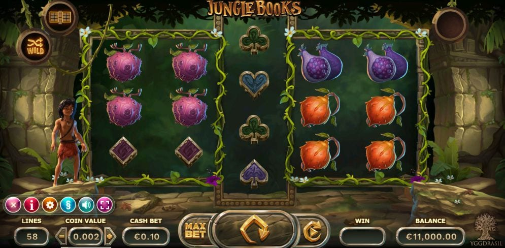 Jungle Books online slots game gameplay