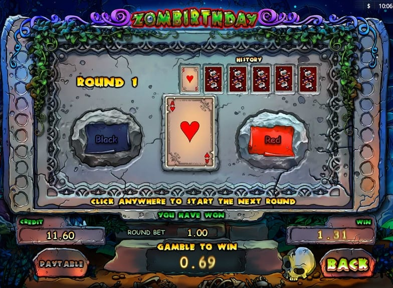 Zombirthday online slots game info