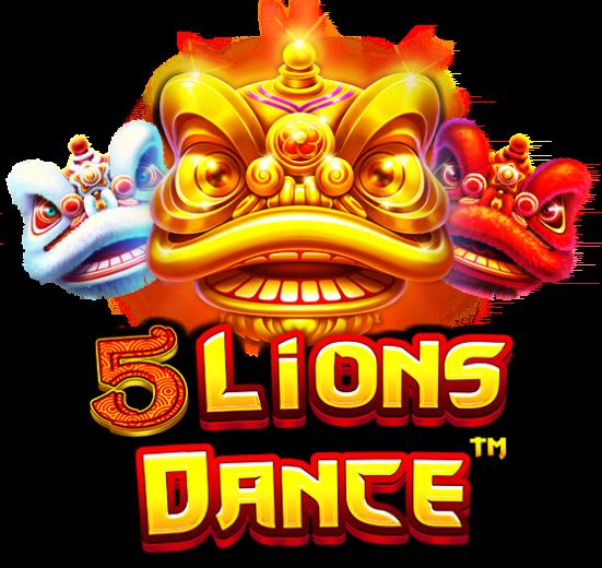 5 Lions Dance Slot Logo Wizard Slots