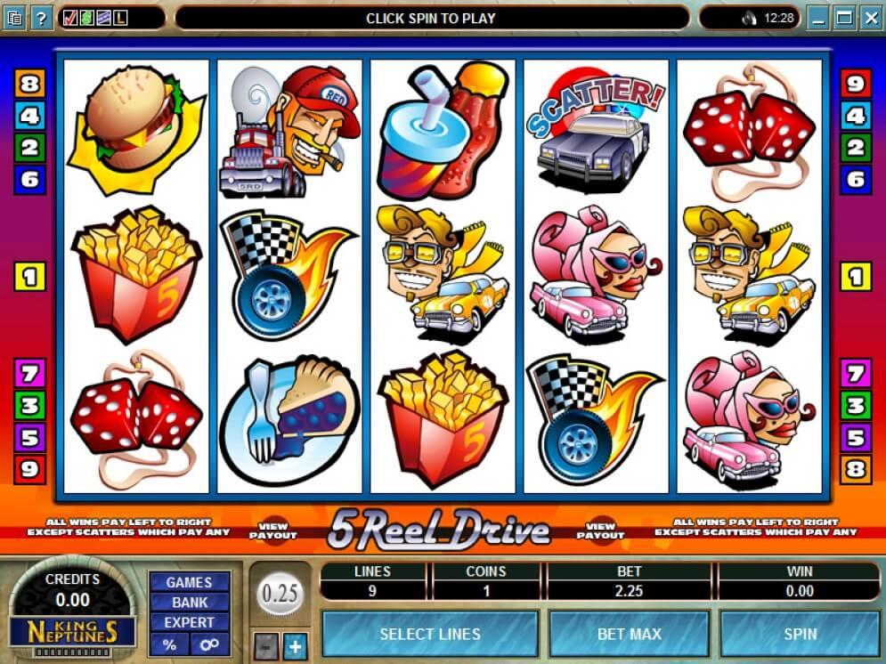 5 Reel Drive Slots gameplay