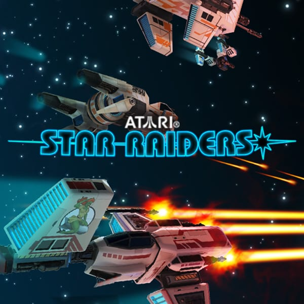 Star Raiders online slots game logo scratch