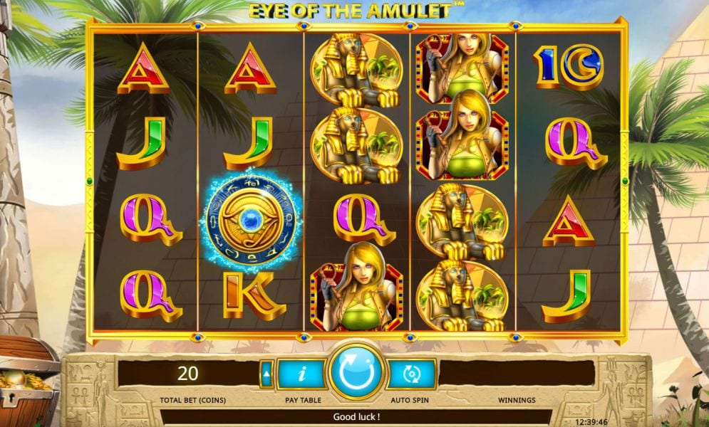 Eye of the Amulet slots game gameplay