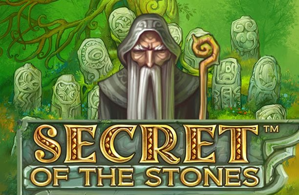 Secret of the Stones online slots game logo