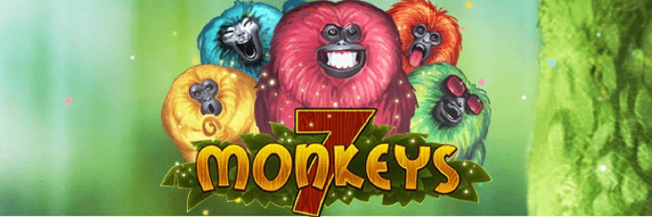 7 monkeys slots game logo