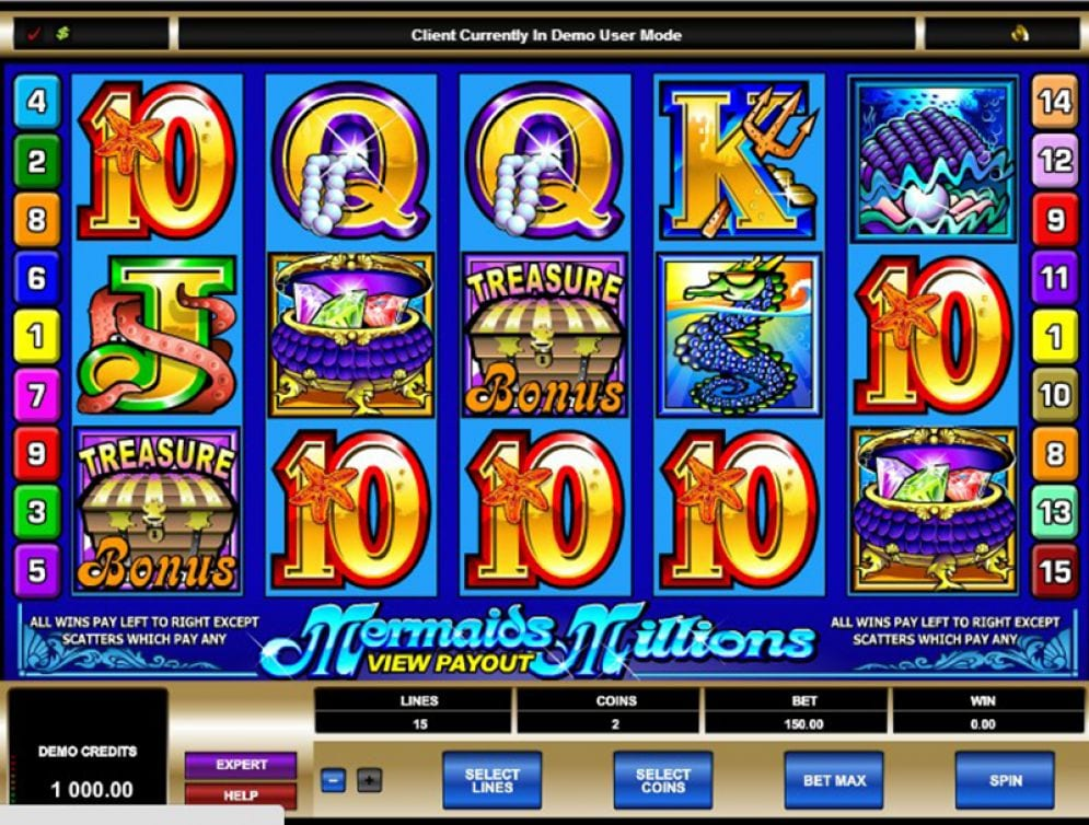 Mermaids Millions online slots game gameplay