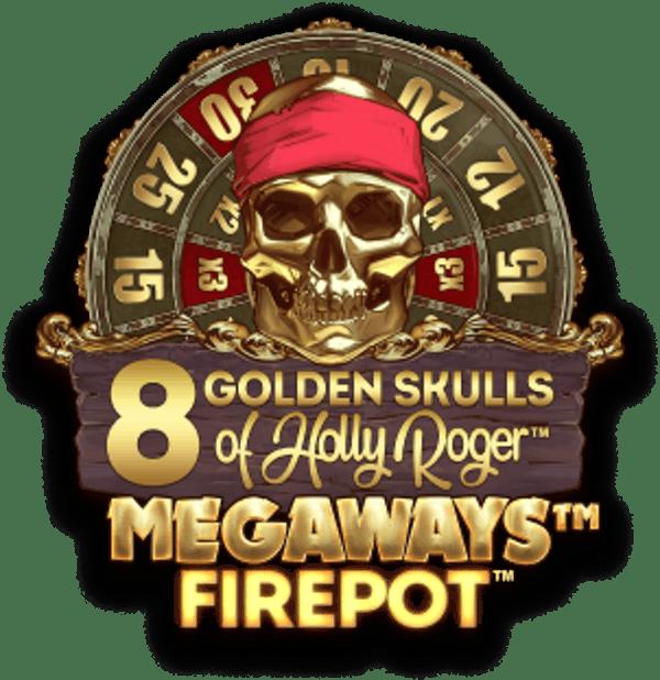 8 Golden Skulls of Holly Roger Megaways Slot Logo Wizard Slots