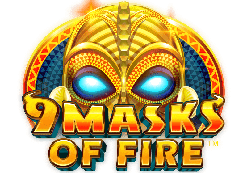 9 masks slot logo