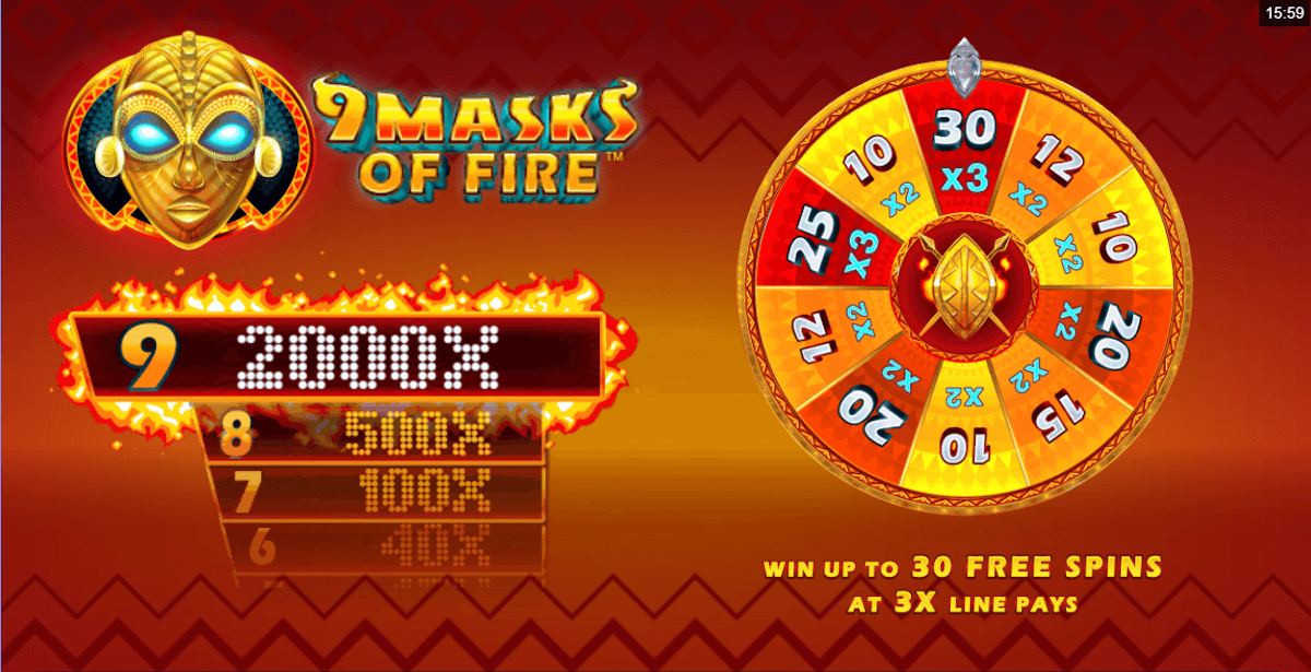 9 Masks of Fire Slot Wizard Slots