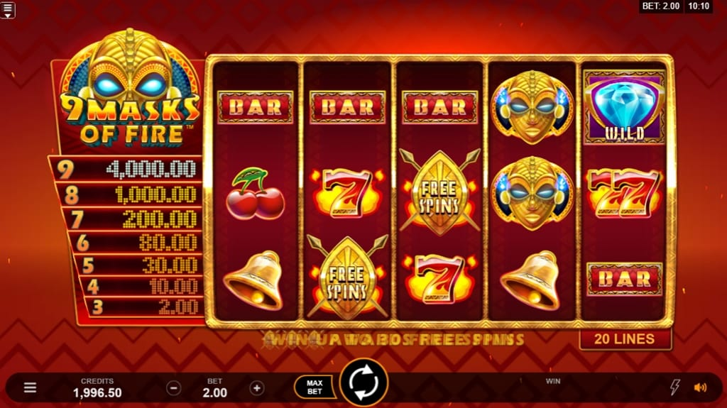 9 masks of fire gameplay uk slot