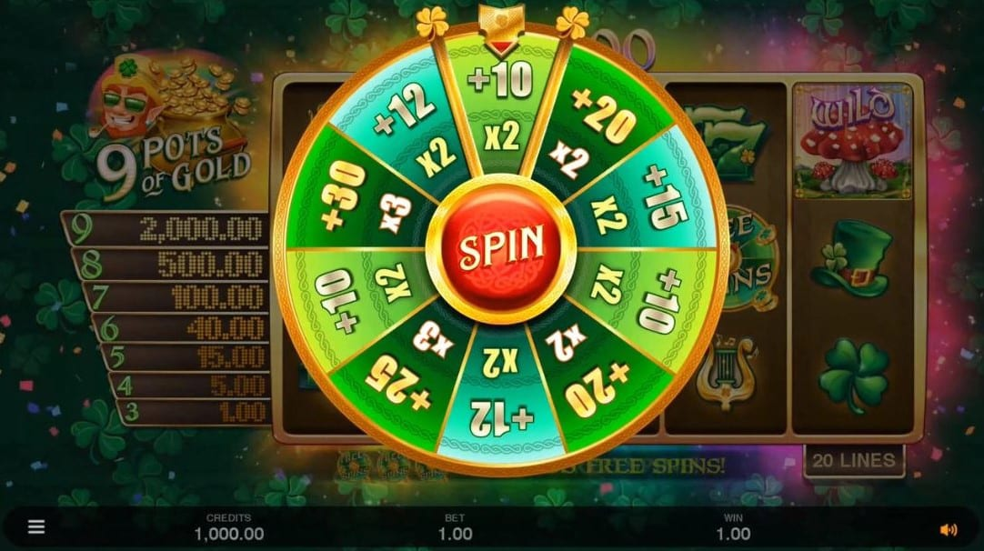 9 Pots Of Gold Slot Game