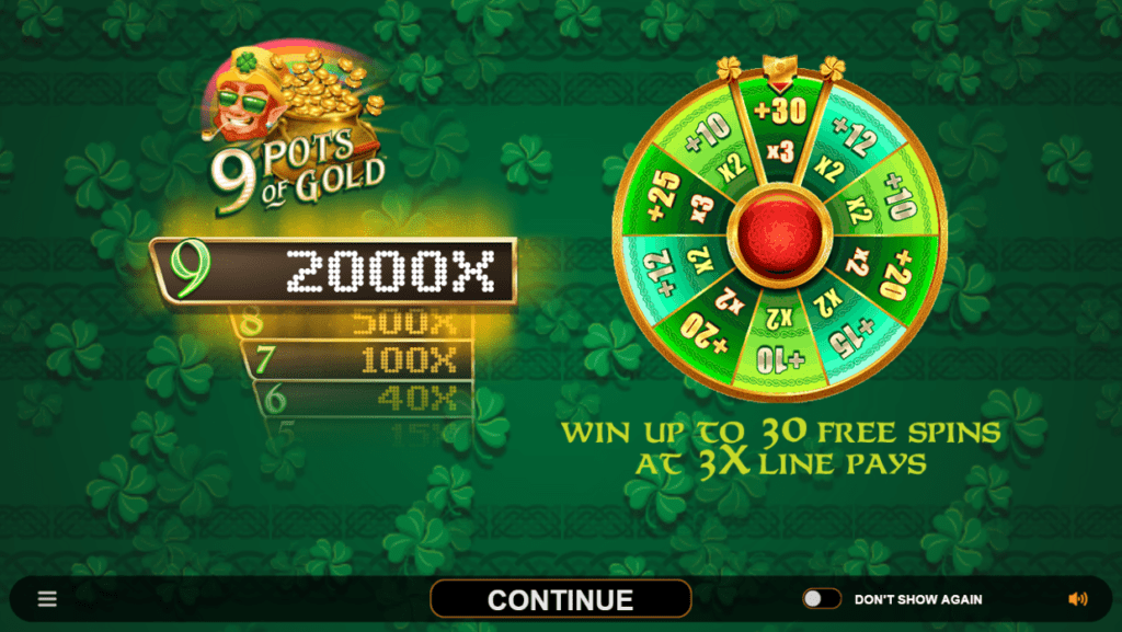 9 Pots Of Gold Slot Bonus Features