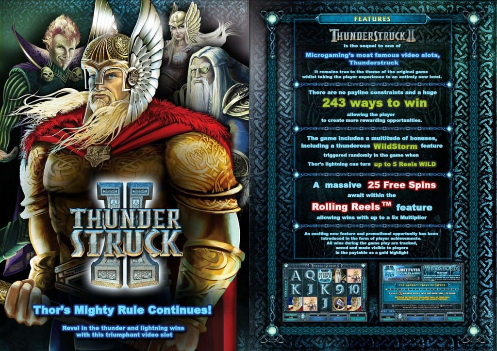 Thunderstruck II online slots game rules