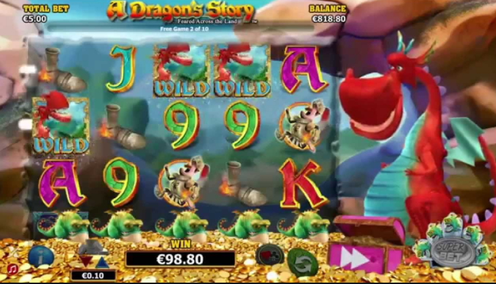 A Dragon's Story Slot gameplay