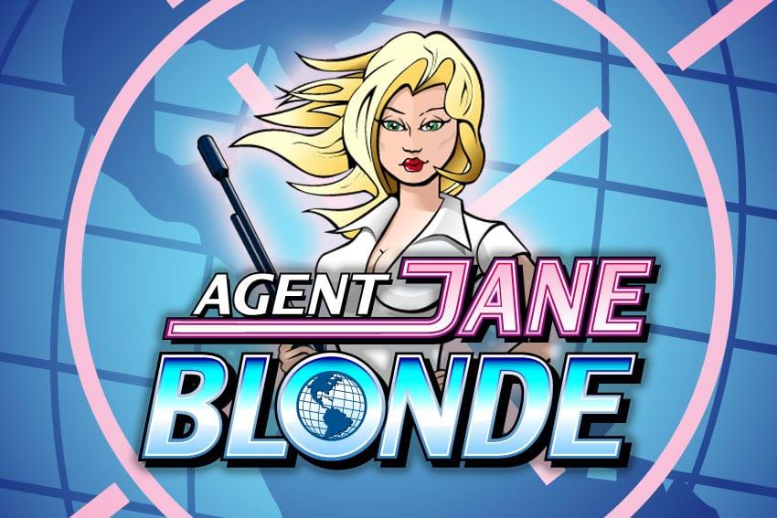 Agent Jane Blonde slots game logo