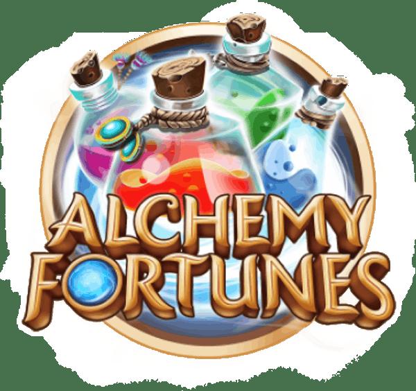 Alchemy Fortunes Hyper Clusters Slot Logo Wizard Slots