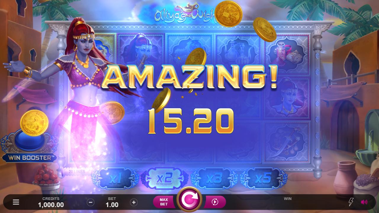 Aliya's Wishes Slots Big Win