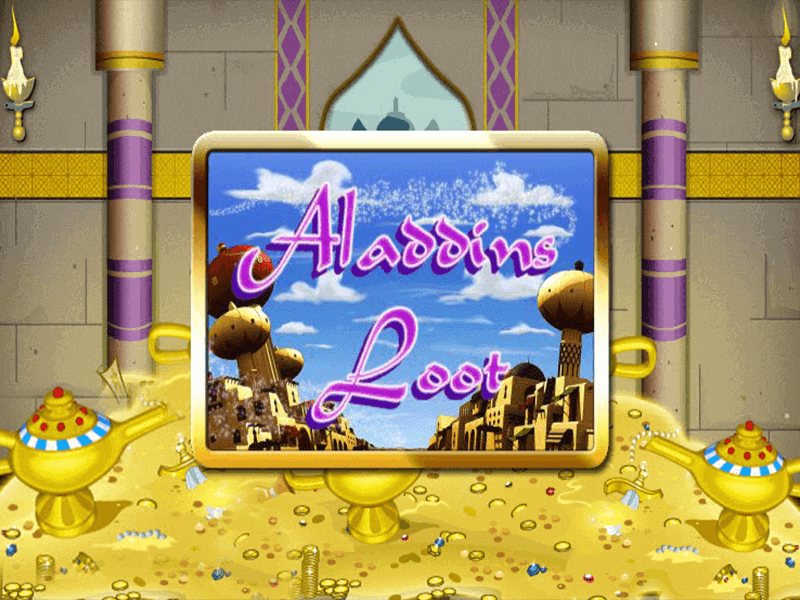 Aladdins Loot slots game logo