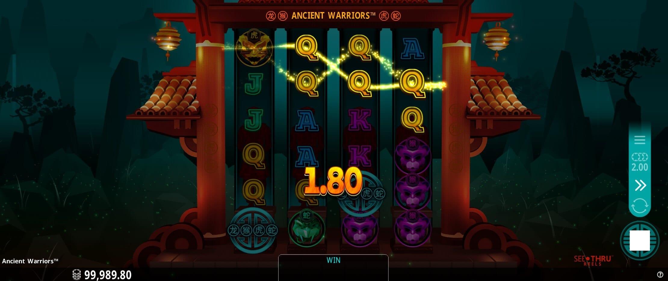Ancient Warriors Slots Win