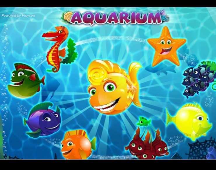 Aquarium slots game logo