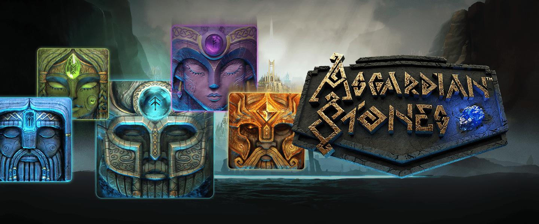 asgardian stones slots game logo