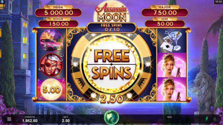 Assassin Moon Slots Free Spins