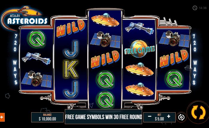 Asteroids Slots Gameplay