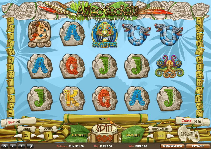 Aztec Secrets gameplay