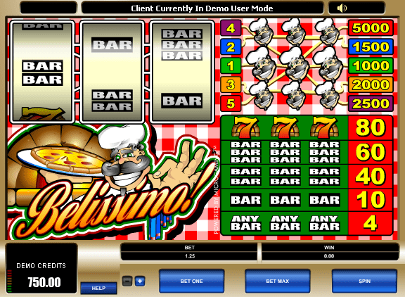 Belissimo! slots gameplay