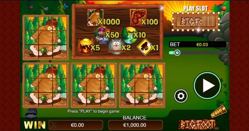 Scratch Big Foot Casino Game