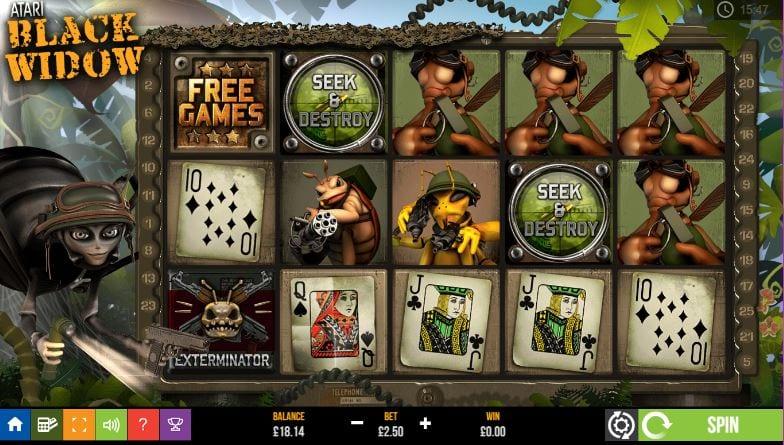 Black Widow Online Slots Game