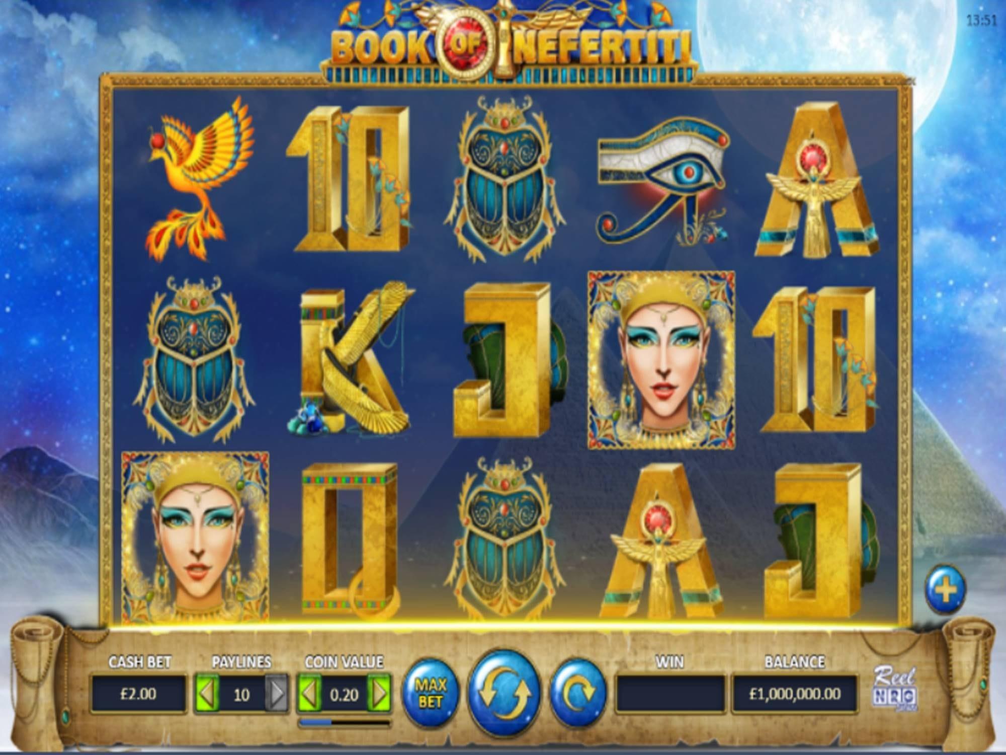 Book of Nefertiti Slot Gameplay